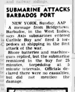 Newspaper cutting Monday 14 September 1942