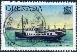 Grenada 1980 Shipping - 40 cent stamp of the MV The Seimstrand
