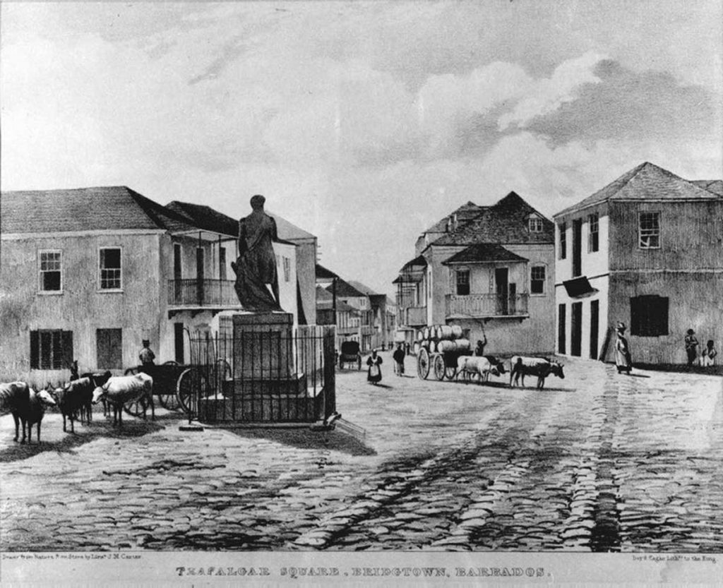 Nelson, Trafalgar Square, Bridgetown, Barbados, 1835