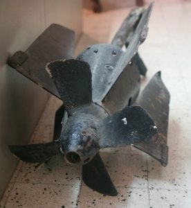 Torpedo motor from sinking of Cornwallis