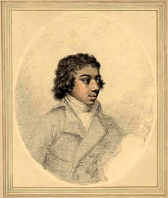 Black violinist George Augustus Polgreen Bridgetower (1780-1860)