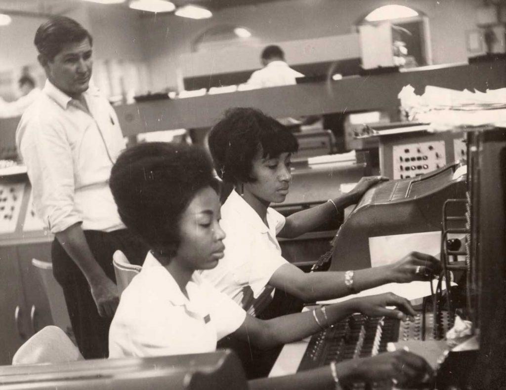 C&W Pamela_Jones & Bertie Bostic processing messages at the teleprinter