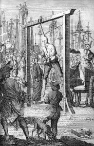 Hanging of Stede Bonnett - 10th December 1718, Charlestown