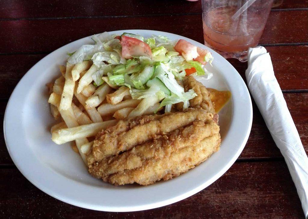 Bajan Flying Fish n Chips