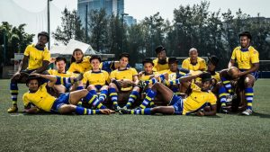 Barbados team - Hong Kong Sevens 2014
