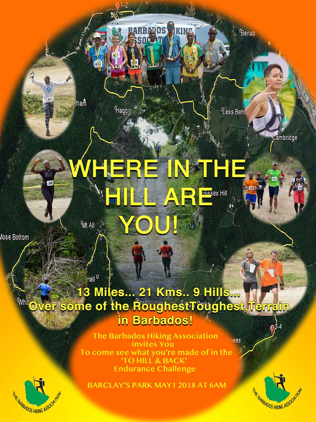 BHA To Hill & Back race poster 2018