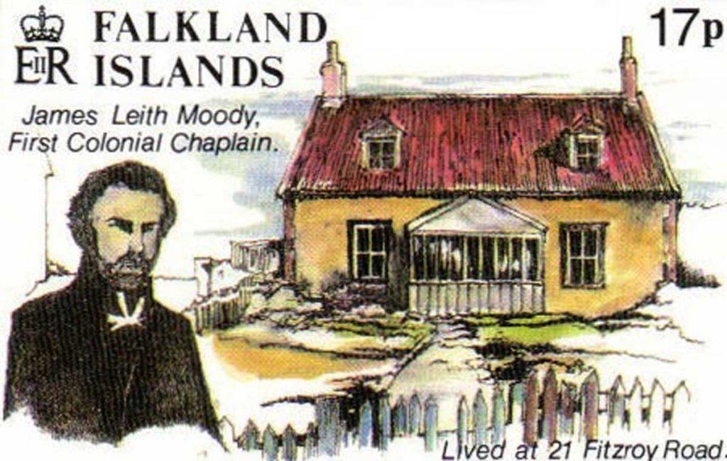 Revd J L Moody by James Peck - Falkland Islands stamp