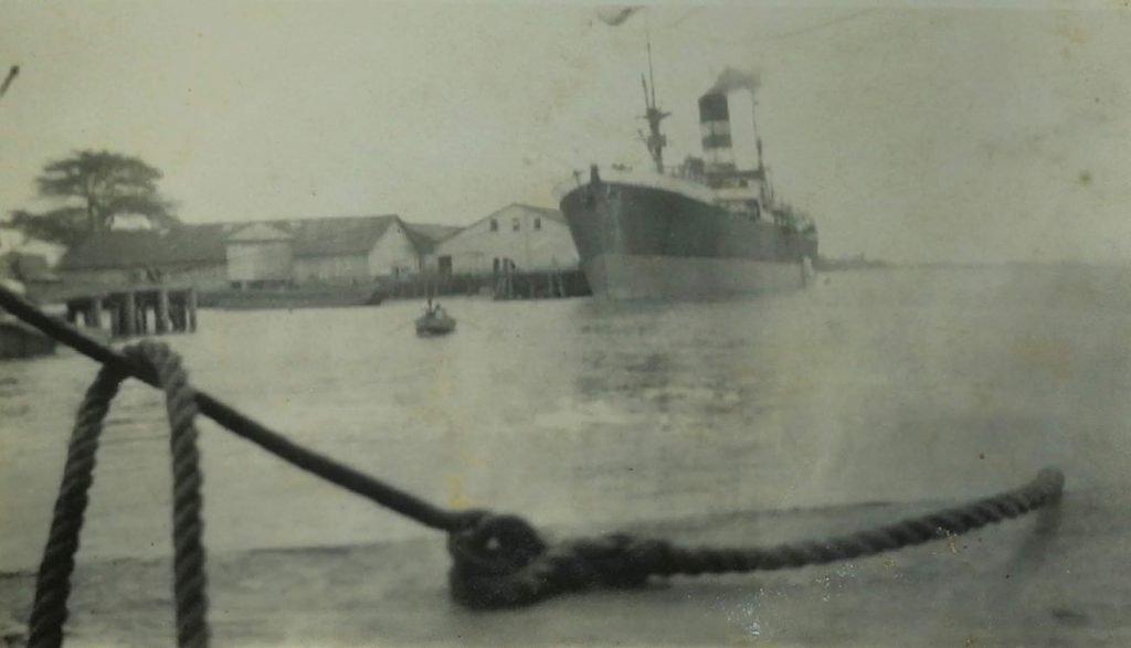 Stelling wharf Georgetown, British Guiana -1939