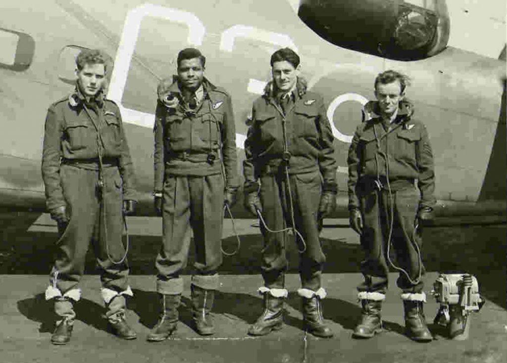 Errol Barrow and crew crew graduation No. 31 OTU RAF Debert, Nova Socia Canada - 7 April 1944