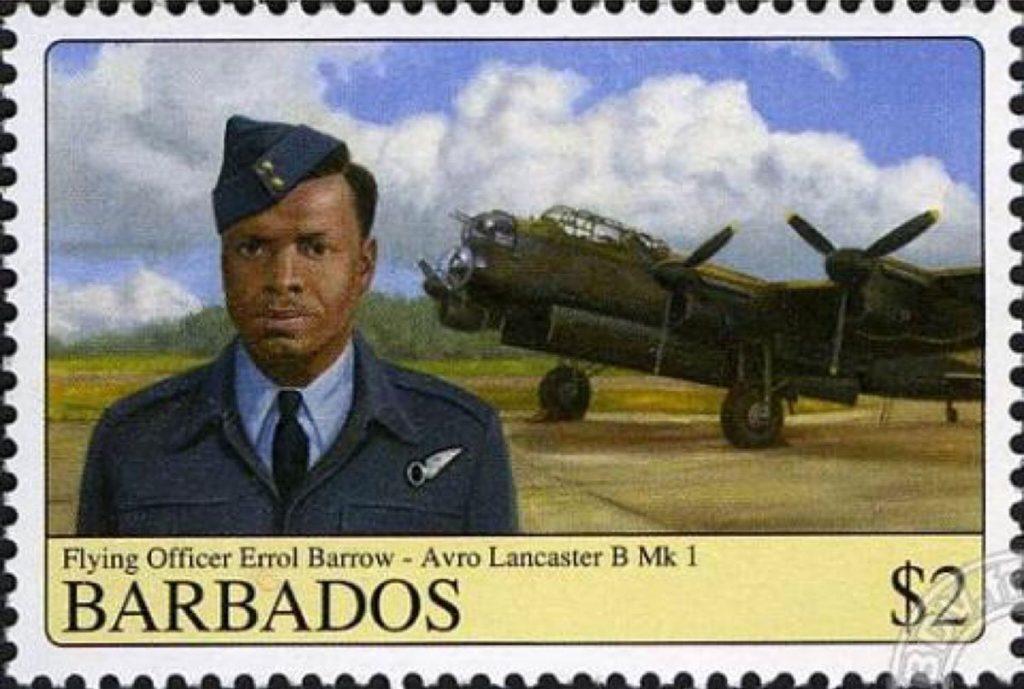 Barbados stamp from 2008 featuring Errol Barrow Navigator RAF