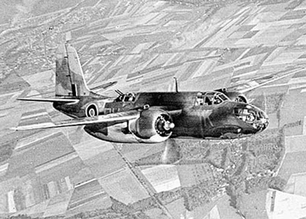 RAF Boston III from 88 Squadron RAF over Dieppe 1942