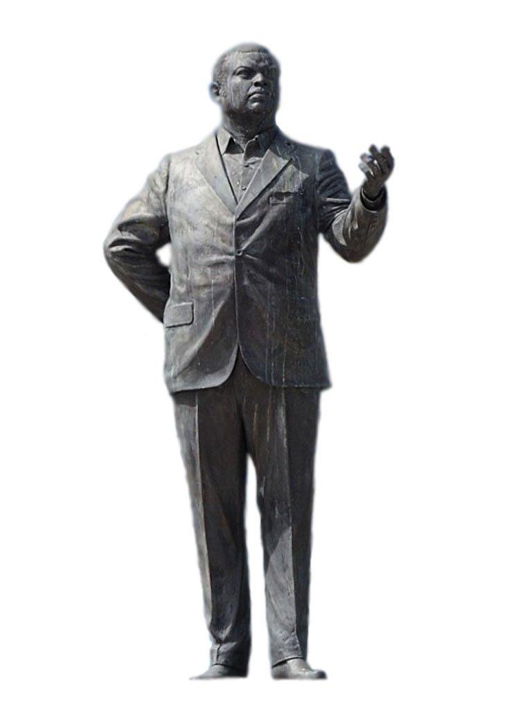 Errol Barrow bronze Statue by Ricky George