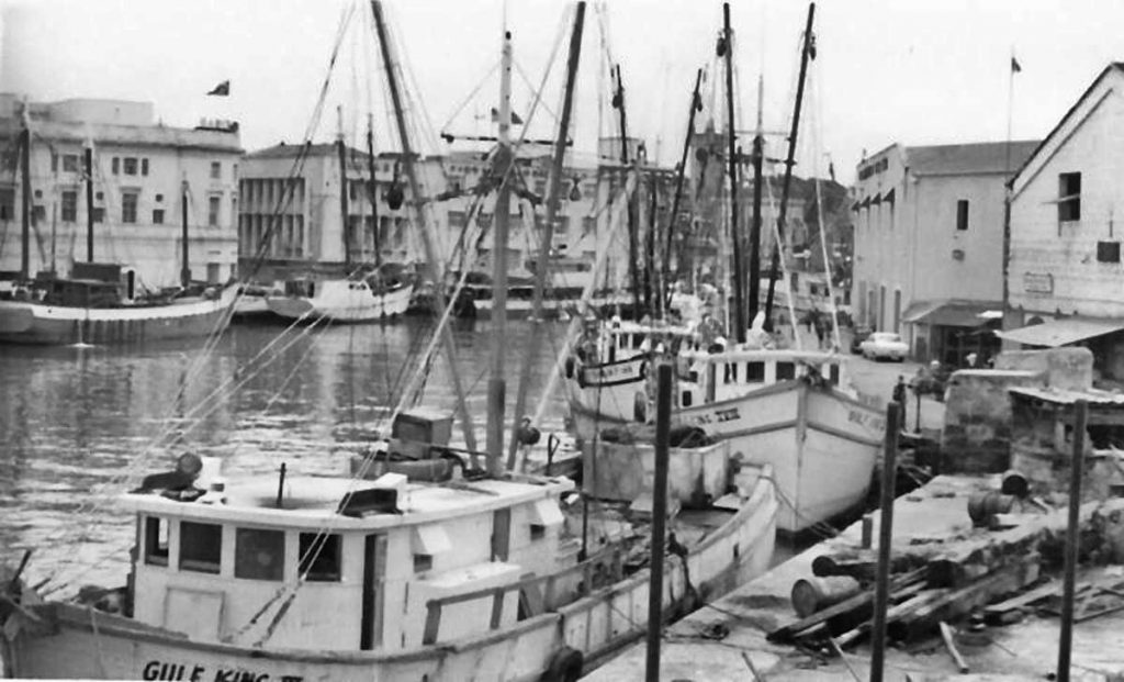 Careenage Shrimp Boats July 1970 Jim Webster