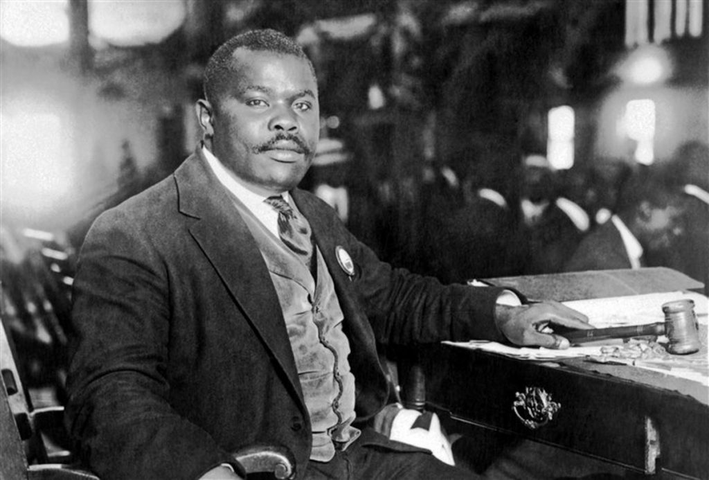Marcus Garvey presiding at the 1922 UNIA convention