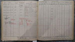 Andrew Cole RAF Pilot log book - Errol Barrow Navigator 88 Squadron combat sorties