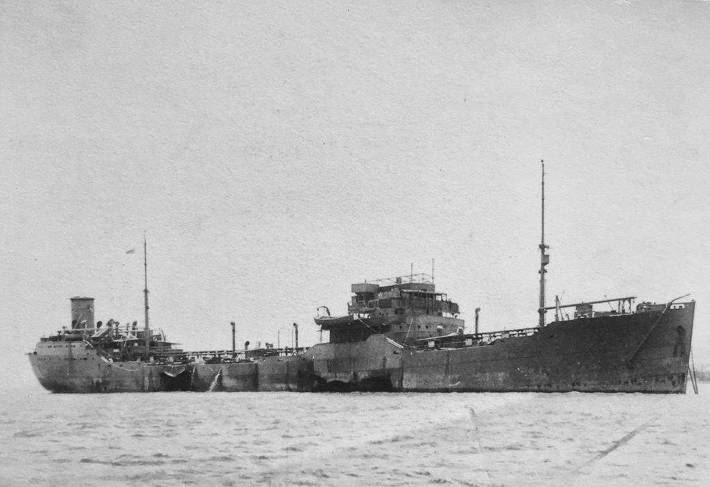 CNS Cornwallis torpedo damage