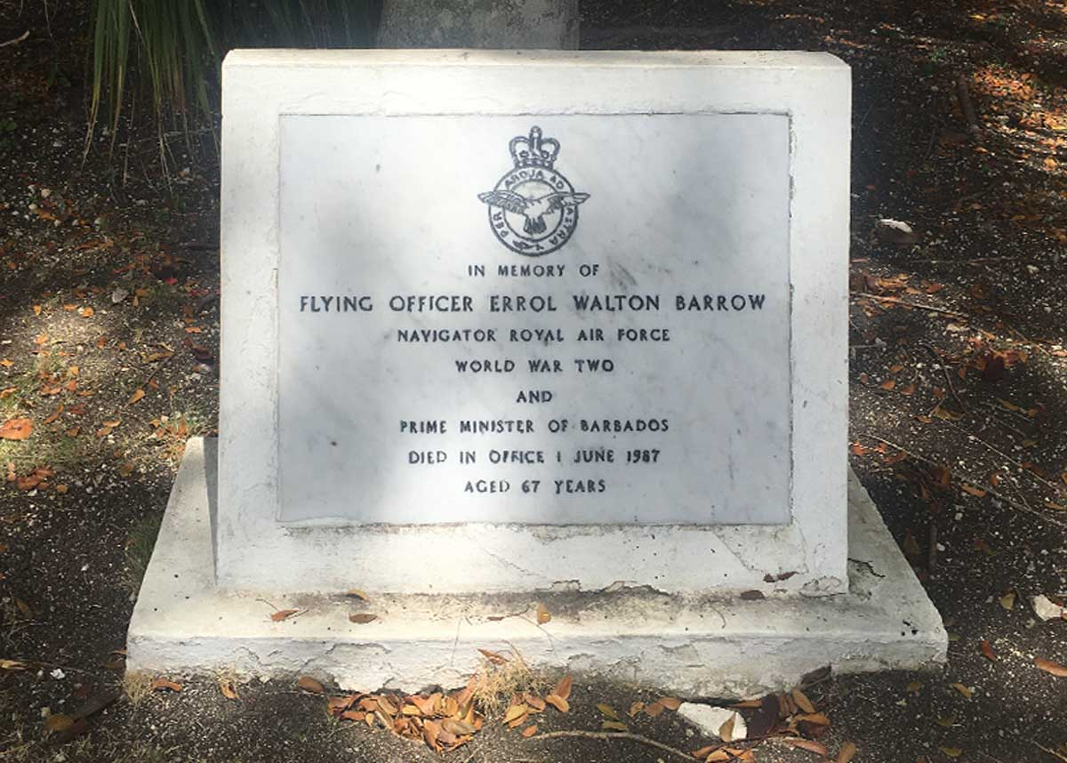 Errol Barrow's tomb stone in the Barbados Military Cemetery