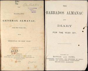 Barbados Almanacs 1848 & 1871