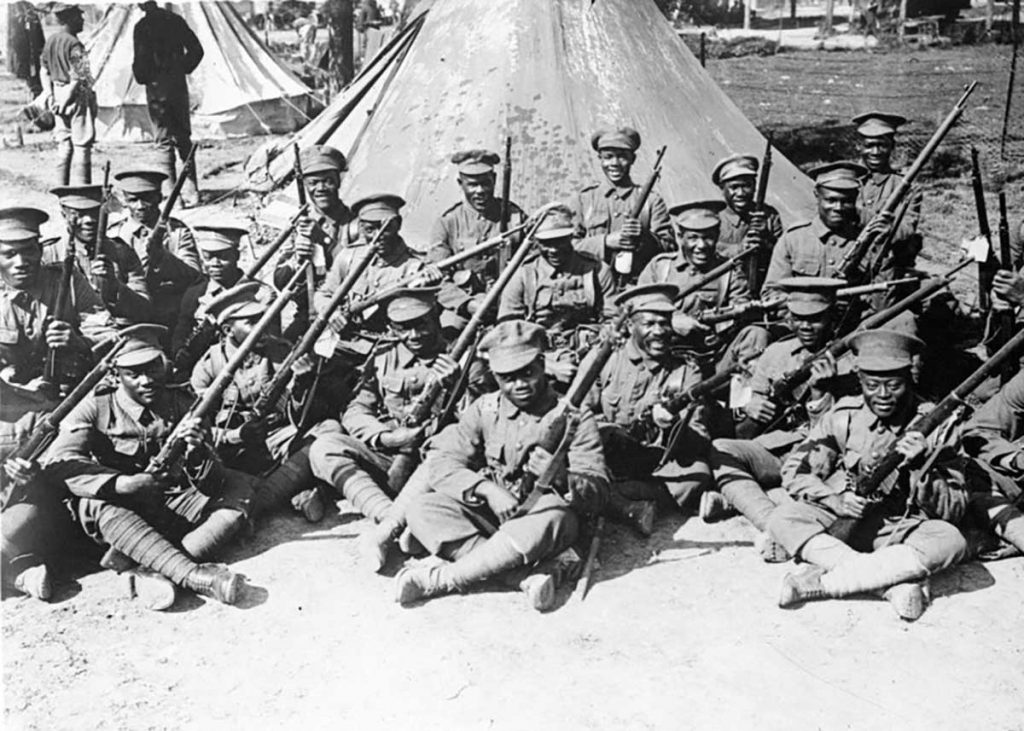 Troops of the British West Indies Regiment -1916
