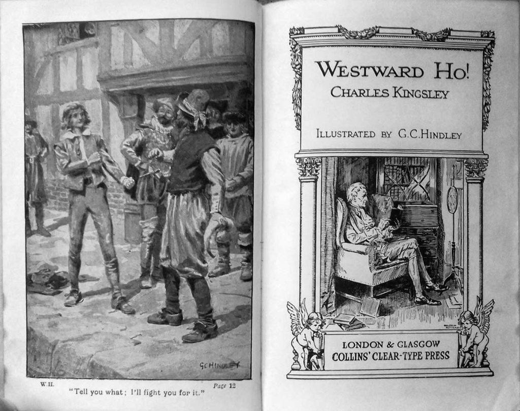 Westward Ho! Charles Kingsley - inside cover