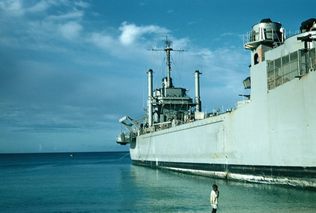 LST 1170 USS Wyndham County Barbados
