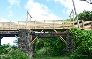 The new Joe's River pedestrian bridge