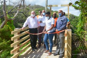 Opening of the new Joe's River pedestrian bridge