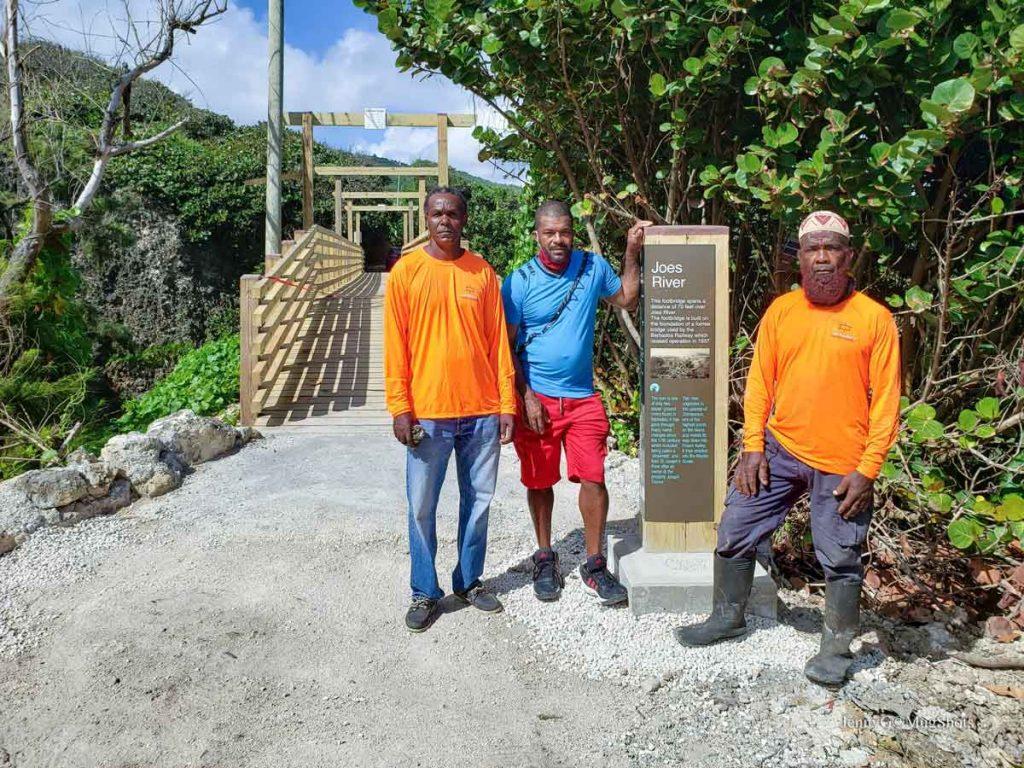 The builders of the new Joe's River pedestrian bridge