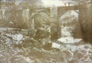 Joe's River railway bridge in 1915