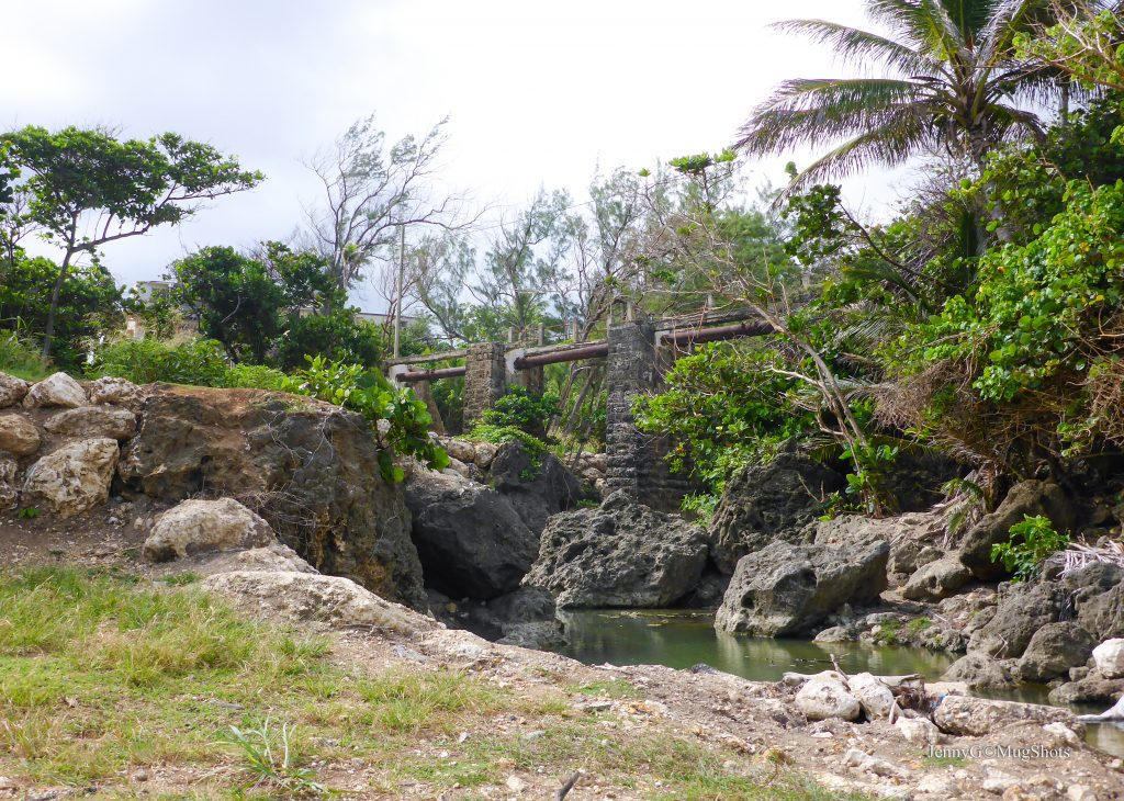 The dilapidated Joe's River train bridge
