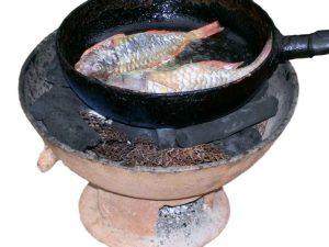 Earthenware / pottery coal pot
