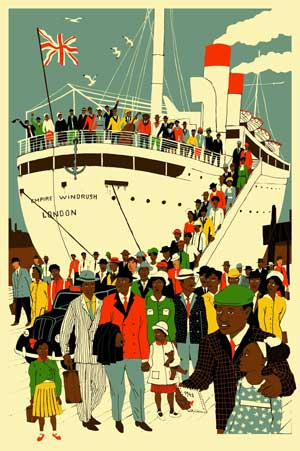 Empire Windrush - Eliza Southwood poster - London is the Place for Me