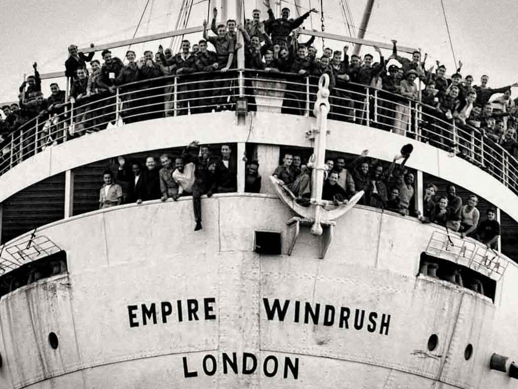 Empire Windrush docking at Tilbury Docks, Essex, on 21<sup>st</sup> June 1948