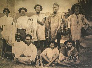 Nine Fishermen. Bath Beach East Coast, Barbados, 1896 - B&W Atlantis Hotel