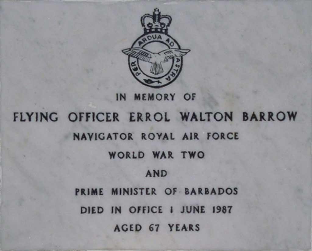 Errol Barrow memorial tomb stone Barbados Military Cemetery