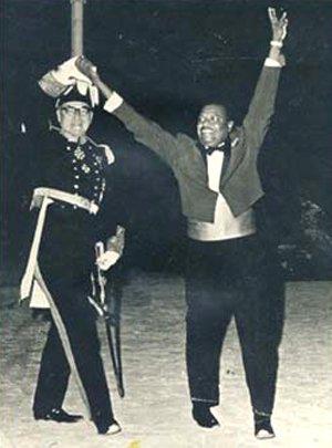 PM Errol Barrow & Governor Stow - Independence night Barbados 30th November 1966
