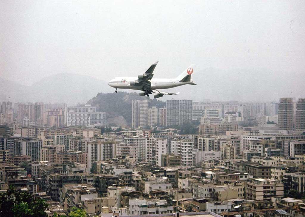 Kai Tak Kowloon flightpath