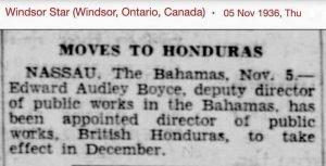 E.A. Boyce Director of Public Works - British Honduras